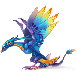 An image of the Blue Winged Dragon
