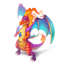 An image of the Fire Lizard Dragon