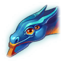 A Headshot of Blue Winged Dragon