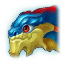 A Headshot of Chitinous Dragon