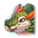 A Headshot of Crocodile Dragon
