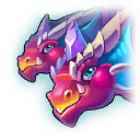 A Headshot of Double Headed Dragon