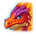A Headshot of Fire Lizard Dragon