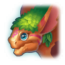 A Headshot of Forest Thicket Dragon