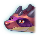 A Headshot of Raccoon Dragon