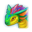 A Headshot of Rainbow Dragon