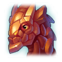 A Headshot of Western Dragon