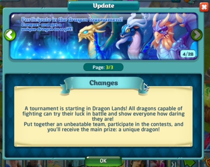 New Dragons as Tournament Prizes