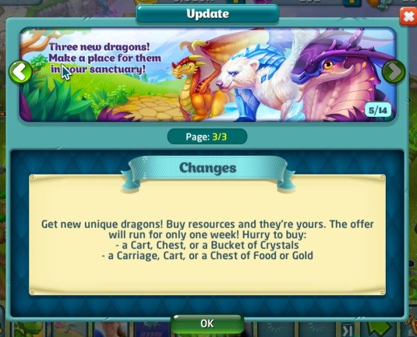 Earth Magic, Cloakwing, and Polar dragons are now on special offers!