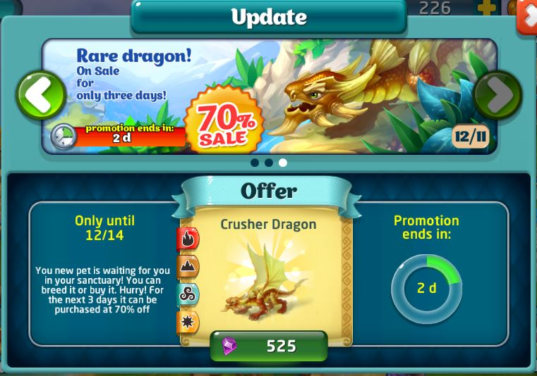 Crusher dragon sale