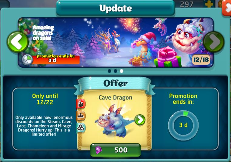 Dragon discounts 121814
