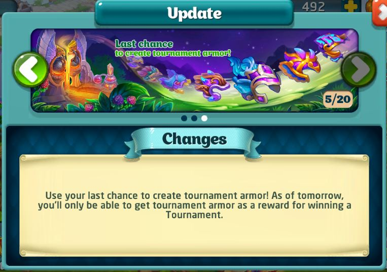 Last chance to create tournament armor 2