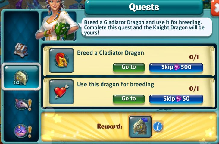 Knight Dragon Quest step 5 and 6